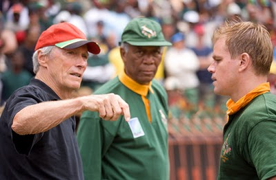 Eastwood, Freeman y Damon en Invictus
