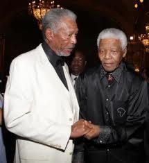 Morgan Freeman y Nelson Mandela