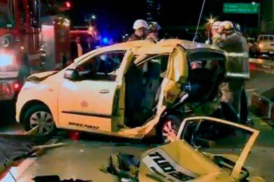 Imagen del accidente de tránsito de un joven con grados de alcohol en Bogotá julio 2013