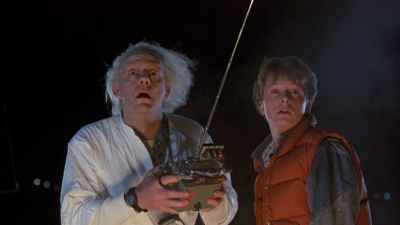 Christopher Lloyd y Michael J. Fox en Back to the future
