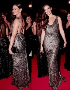 Taliana Vargas con un vestido de Beatriz Camacho. Imagen tomada de internet / EN EL NOMBRE DE LA MODA