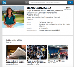 Perfil LinkedIn Mena