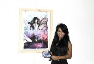 Pintora Karen Carreño.