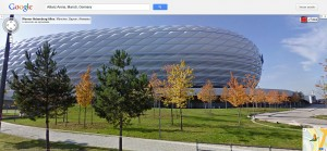 El estadio Allianz Arena, en Munich, visto desde Street View