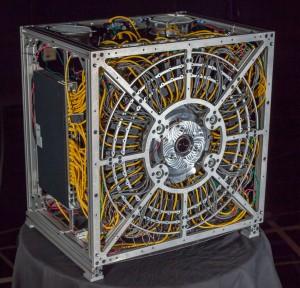 La cámara AWARE, con medidas de 75x75x50 cms.