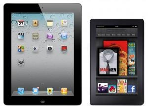 Un iPad al lado del Kindle Fire
