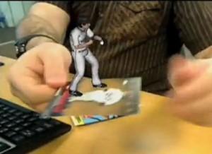 Ejemplo de RA en una lámina de un beisbolista
