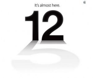 El 12 de septiembre, en la extraña invitación de Apple.
